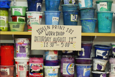 Screen Print 101 Workshop