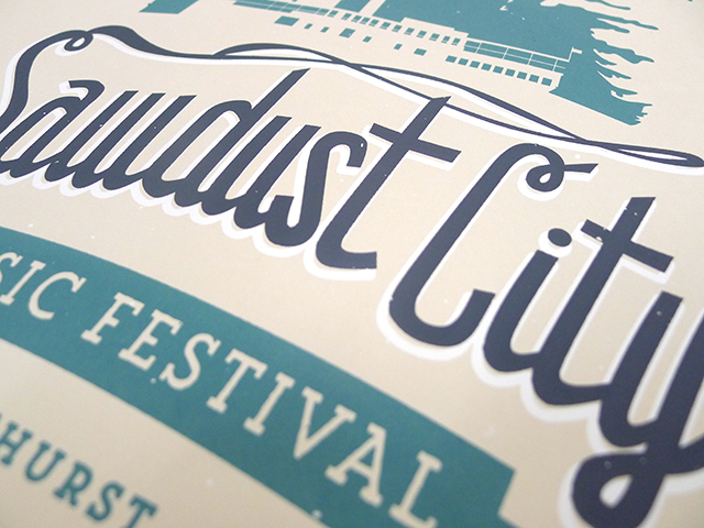 Posters for Sawdust City Music Festival