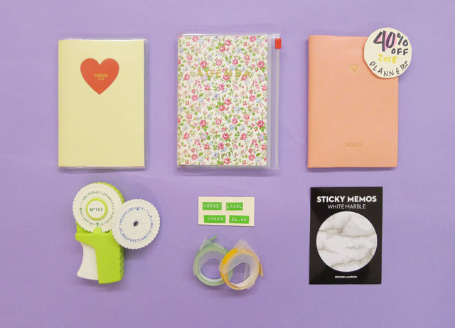 40% off all 2018 Planners!