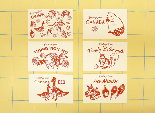 Canadiana postcards