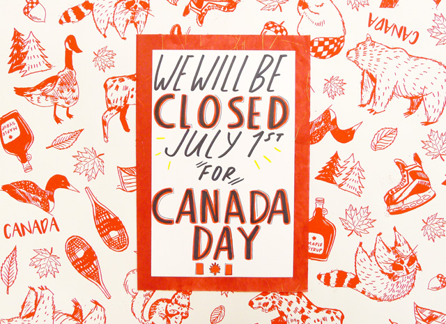 Canada Day Hours!