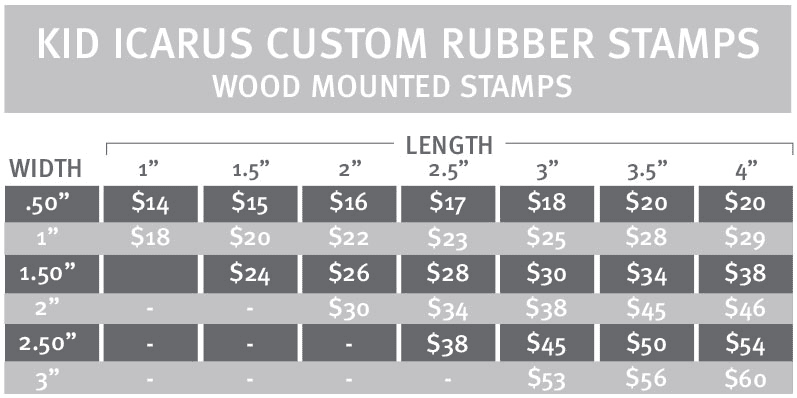 Custom Wood Mounted Rubber Stamps