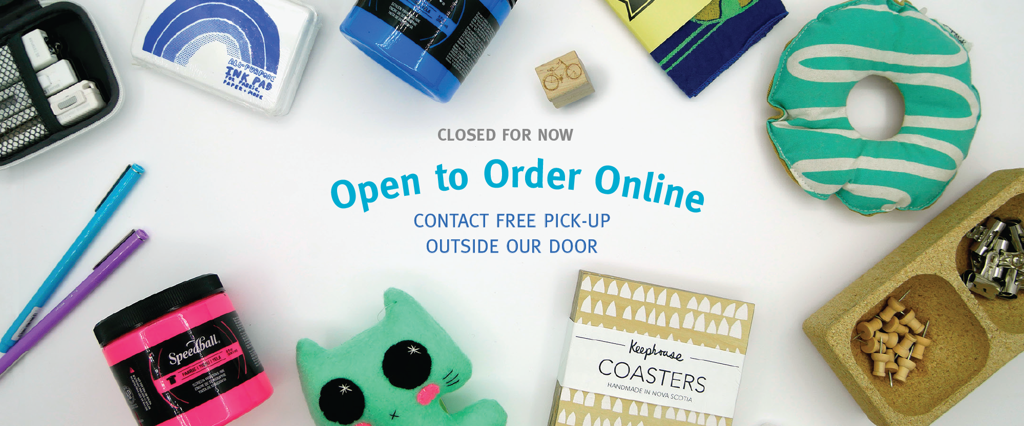 Order online for contact free pickup