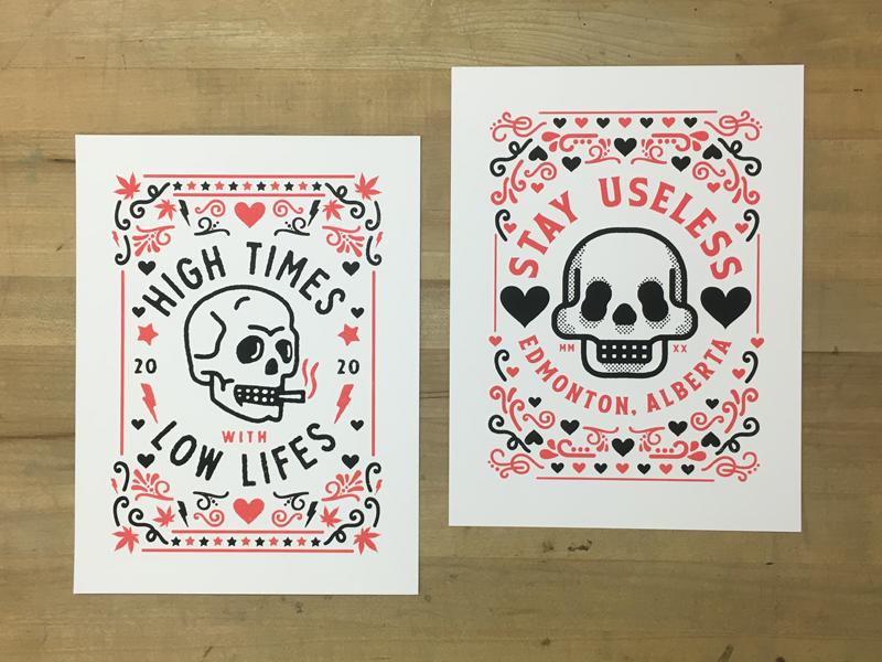 Nigel Hood's skull prints