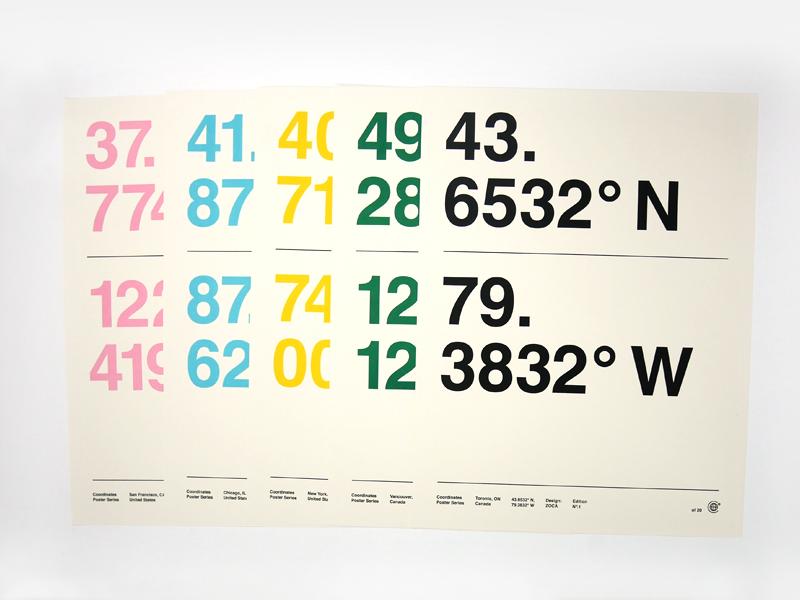 Zoca Studio Coordinates Poster Series